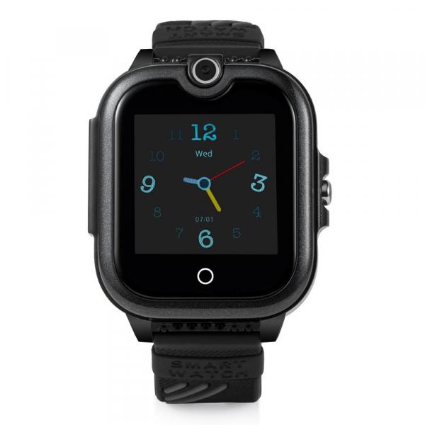Ceas Inteligent cu GPS pentru copii WONLEX KT13 4G Negru, apelare video, rezistent la apa, localizare WiFI si monitorizare spion 0