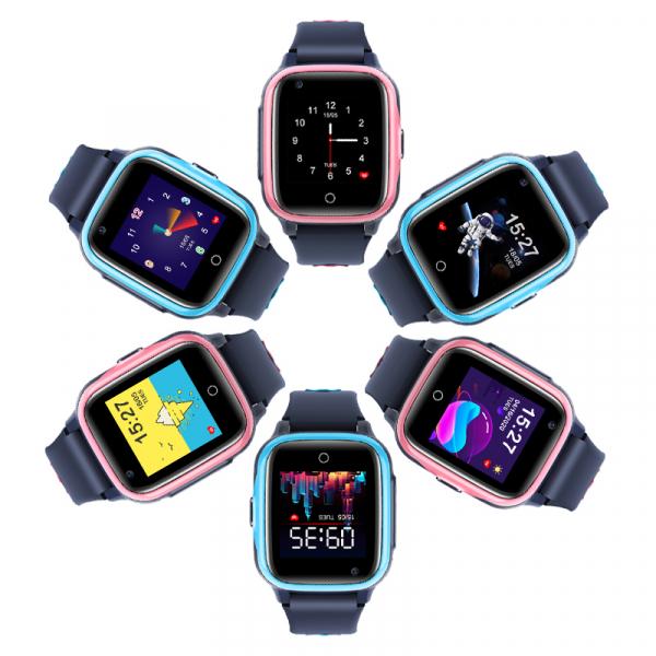 Ceas Inteligent cu GPS pentru copii WONLEX KT15 4G Roz, apelare video, rezistent la apa, localizare WiFI si monitorizare spion [7]