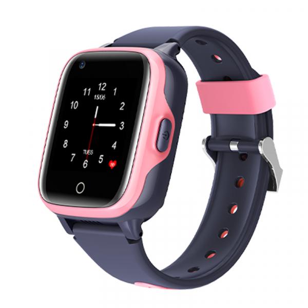 Ceas Inteligent cu GPS pentru copii WONLEX KT15 4G Roz, apelare video, rezistent la apa, localizare WiFI si monitorizare spion [4]