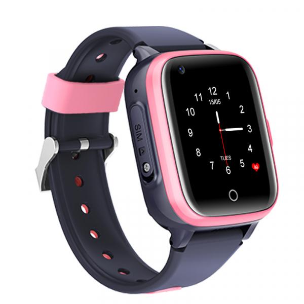 Ceas Inteligent cu GPS pentru copii WONLEX KT15 4G Roz, apelare video, rezistent la apa, localizare WiFI si monitorizare spion [5]