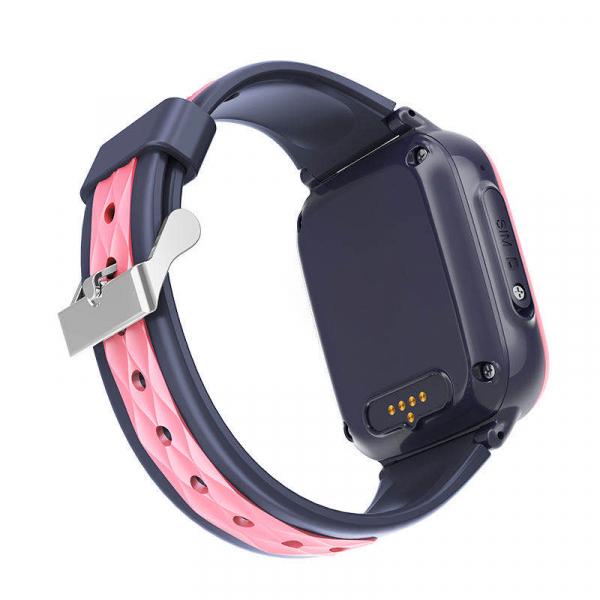 Ceas Inteligent cu GPS pentru copii WONLEX KT15 4G Roz, apelare video, rezistent la apa, localizare WiFI si monitorizare spion 6