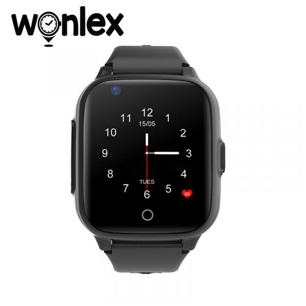 Ceas Inteligent cu GPS pentru copii WONLEX KT15 4G Negru, apelare video, rezistent la apa, localizare WiFI si monitorizare spion [0]
