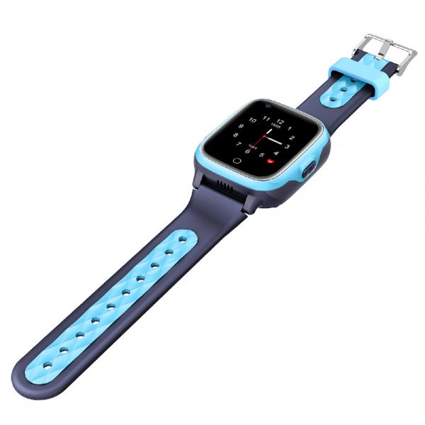 Ceas Inteligent cu GPS pentru copii WONLEX KT15 4G Albastru, apelare video, rezistent la apa, localizare WiFI si monitorizare spion 2