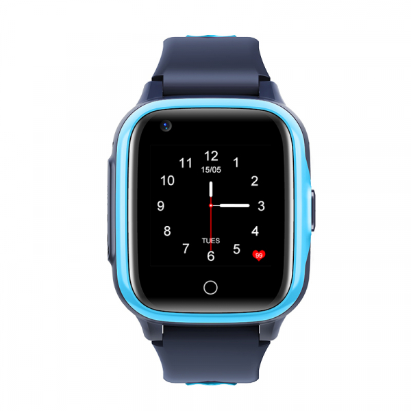 Ceas Inteligent cu GPS pentru copii WONLEX KT15 4G Albastru, apelare video, rezistent la apa, localizare WiFI si monitorizare spion 0