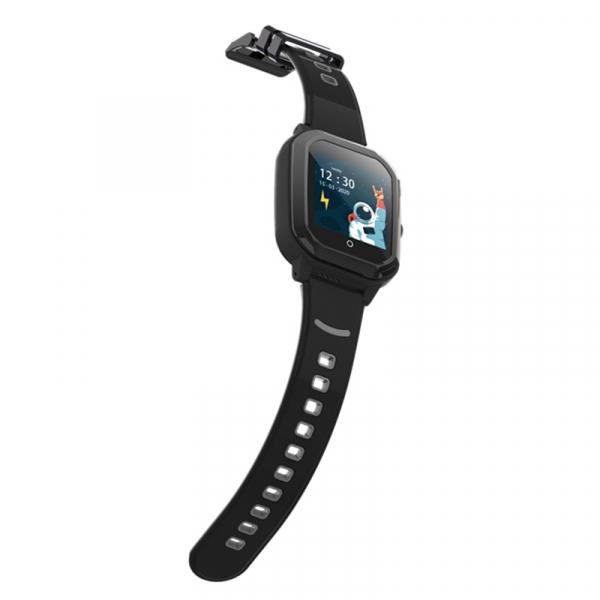 Ceas Inteligent cu GPS pentru copii WONLEX KT20 4G Negru, apelare video, rezistent la apa, localizare WiFI si monitorizare spion 5