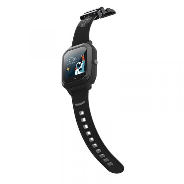 Ceas Inteligent cu GPS pentru copii WONLEX KT20 4G Negru, apelare video, rezistent la apa, localizare WiFI si monitorizare spion 6