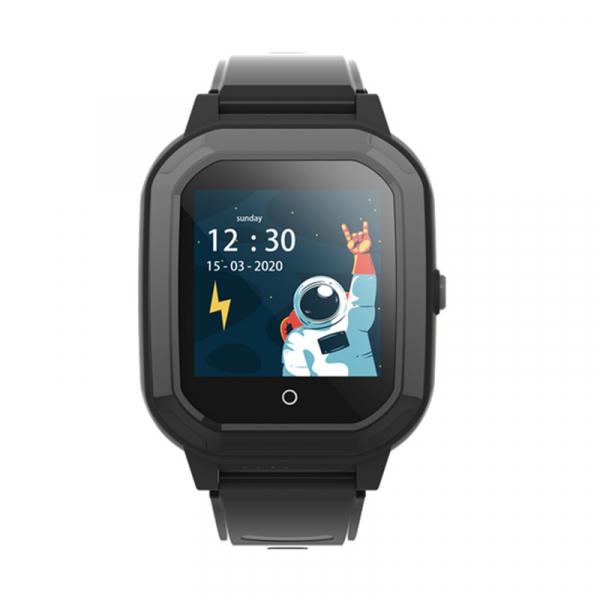 Ceas Inteligent cu GPS pentru copii WONLEX KT20 4G Negru, apelare video, rezistent la apa, localizare WiFI si monitorizare spion 0