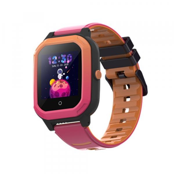 Ceas Inteligent cu GPS pentru copii WONLEX KT20 4G Roz, apelare video, rezistent la apa, localizare WiFI si monitorizare spion 1