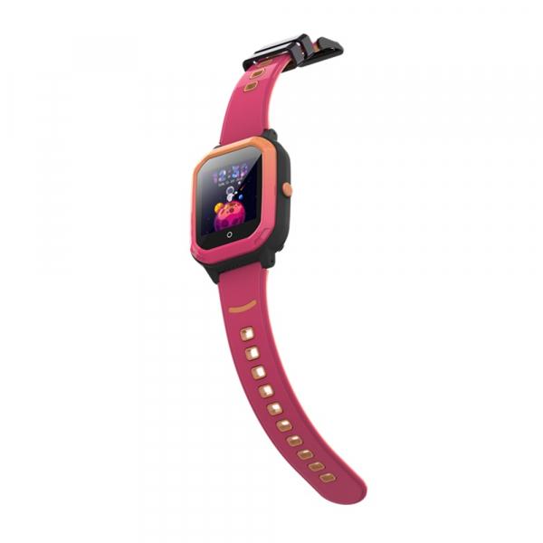 Ceas Inteligent cu GPS pentru copii WONLEX KT20 4G Roz, apelare video, rezistent la apa, localizare WiFI si monitorizare spion 4