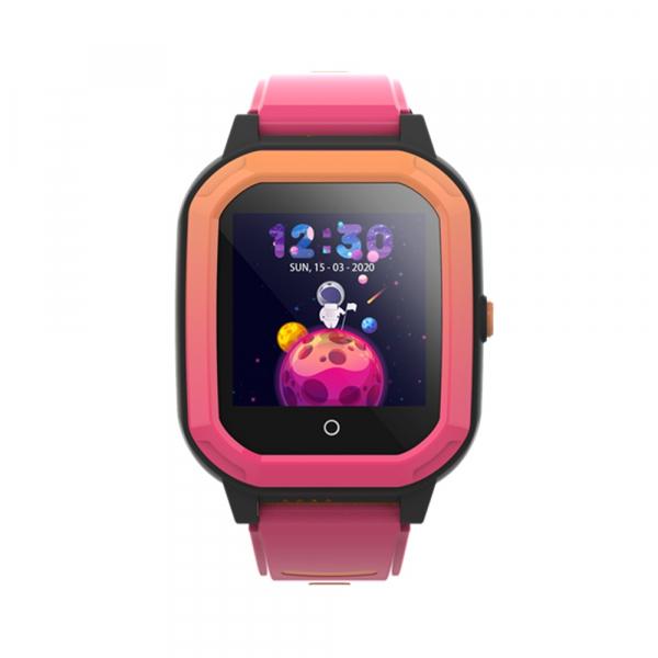 Ceas Inteligent cu GPS pentru copii WONLEX KT20 4G Roz, apelare video, rezistent la apa, localizare WiFI si monitorizare spion 0
