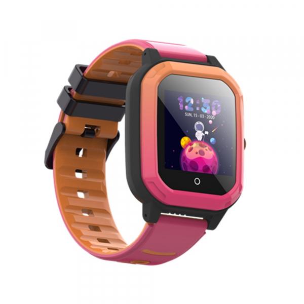Ceas Inteligent cu GPS pentru copii WONLEX KT20 4G Roz, apelare video, rezistent la apa, localizare WiFI si monitorizare spion 2