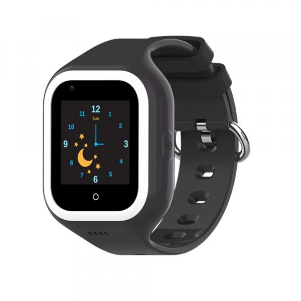 Ceas Inteligent cu GPS pentru copii WONLEX KT21 4G Negru, apelare video, rezistent la apa, localizare WiFI si monitorizare spion 3