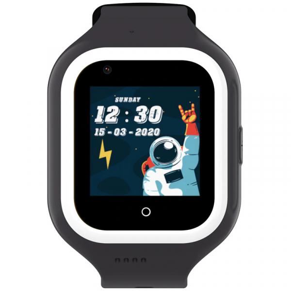 Ceas Inteligent cu GPS pentru copii WONLEX KT21 4G Negru, apelare video, rezistent la apa, localizare WiFI si monitorizare spion 0
