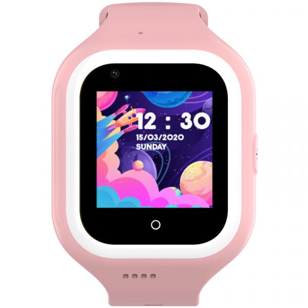 Ceas Inteligent cu GPS pentru copii WONLEX KT21 4G Roz, apelare video, rezistent la apa, localizare WiFI si monitorizare spion [0]