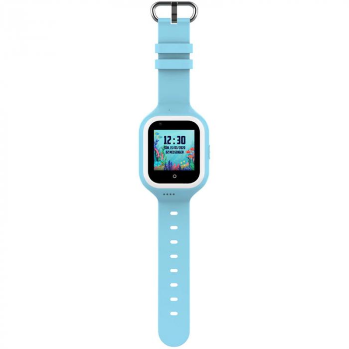 Ceas Inteligent cu GPS pentru copii WONLEX KT21 4G Albastru, apelare video, rezistent la apa, localizare WiFI si monitorizare spion [0]
