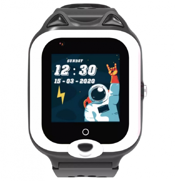 Ceas Inteligent cu GPS pentru copii WONLEX KT22 4G Negru, apelare video, rezistent la apa, localizare WiFI si monitorizare spion 2