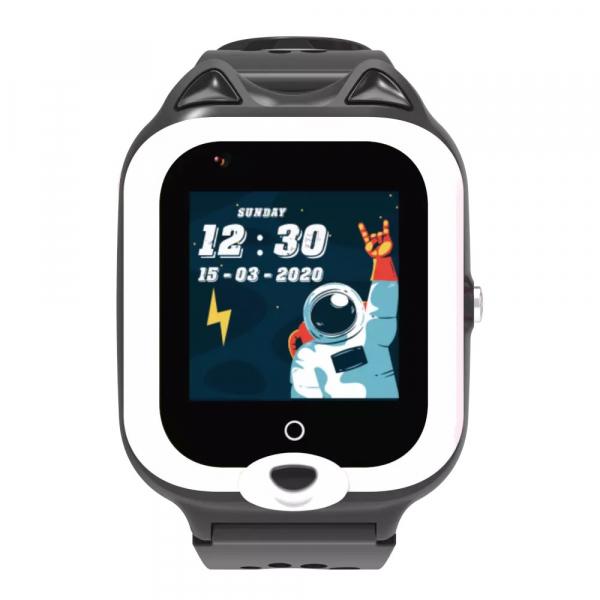 Ceas Inteligent cu GPS pentru copii WONLEX KT22 4G Negru, apelare video, rezistent la apa, localizare WiFI si monitorizare spion 0
