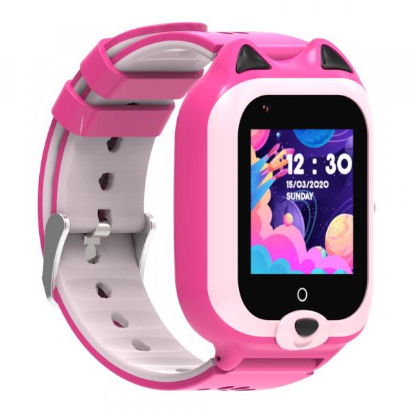 Ceas Inteligent cu GPS pentru copii WONLEX KT22 4G Roz, apelare video, rezistent la apa, localizare WiFI si monitorizare spion 5