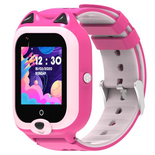Ceas Inteligent cu GPS pentru copii WONLEX KT22 4G Roz, apelare video, rezistent la apa, localizare WiFI si monitorizare spion 4