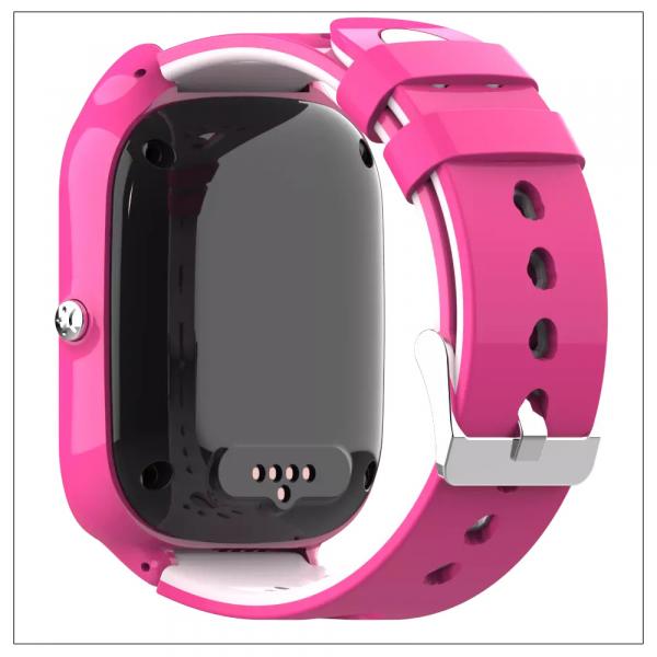 Ceas Inteligent cu GPS pentru copii WONLEX KT22 4G Roz, apelare video, rezistent la apa, localizare WiFI si monitorizare spion [2]