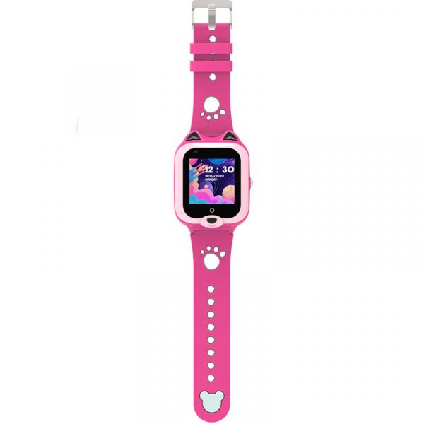 Ceas Inteligent cu GPS pentru copii WONLEX KT22 4G Roz, apelare video, rezistent la apa, localizare WiFI si monitorizare spion [3]