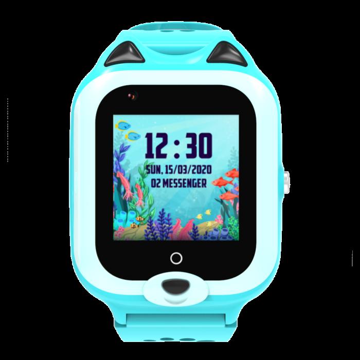Ceas Inteligent cu GPS pentru copii WONLEX KT22 4G Albastru, apelare video, rezistent la apa, localizare WiFI si monitorizare spion [0]
