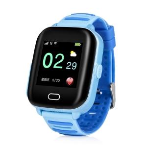 Ceas Inteligent pentru copii WONLEX KT02 3G Albastru,  cu GPS, rezistent la apa, localizare WiFI si monitorizare spion0