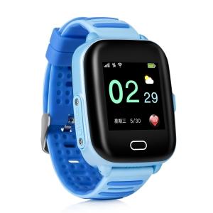 Ceas Inteligent pentru copii WONLEX KT02 3G Albastru,  cu GPS, rezistent la apa, localizare WiFI si monitorizare spion1