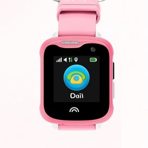 Ceas Inteligent pentru copii WONLEX KT05 Roz, cu GPS, rezistent la apa, localizare WiFI si monitorizare spion0
