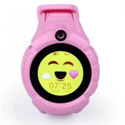 Ceas inteligent pentru copii WONLEX GW600 Roz cu GPS, telefon, localizare WiFi, ecran touchscreen color, monitorizare spion0