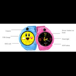 Ceas inteligent pentru copii WONLEX GW600 Roz cu GPS, telefon, localizare WiFi, ecran touchscreen color, monitorizare spion8