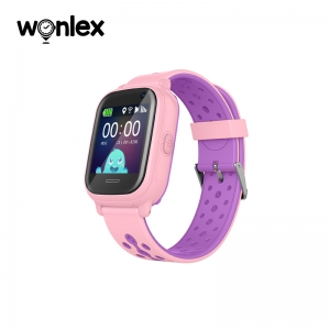 Ceas Inteligent pentru copii WONLEX KT04 Roz, cu GPS, rezistent la apa, localizare WiFI si monitorizare spion0