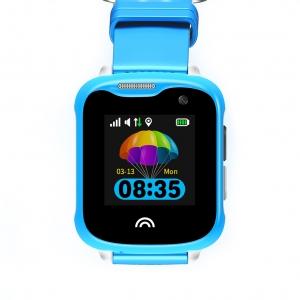 Ceas Inteligent pentru copii WONLEX KT05 Albastru, cu GPS, rezistent la apa, localizare WiFI si monitorizare spion0
