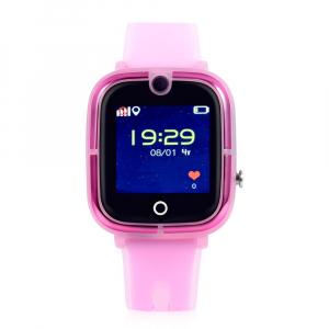 Ceas Inteligent cu GPS pentru copii WONLEX KT07 Roz, rezistent la apa, localizare WiFI si monitorizare spion [0]