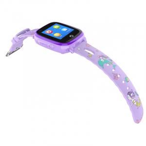Ceas Inteligent pentru copii WONLEX KT10 4G Mov, cu GPS, apelare video, rezistent la apa, localizare WiFI si monitorizare spion0