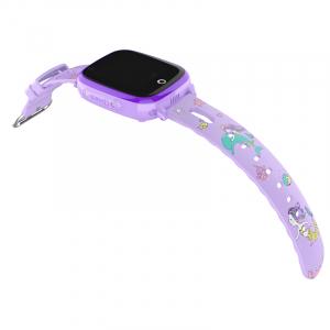 Ceas Inteligent pentru copii WONLEX KT10 4G Mov, cu GPS, apelare video, rezistent la apa, localizare WiFI si monitorizare spion2