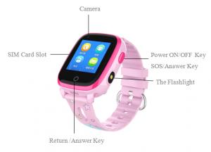 Ceas Inteligent cu GPS pentru copii WONLEX KT10 4G Roz, apelare video, rezistent la apa, localizare WiFI si monitorizare spion [4]