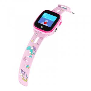 Ceas Inteligent cu GPS pentru copii WONLEX KT10 4G Roz, apelare video, rezistent la apa, localizare WiFI si monitorizare spion [3]