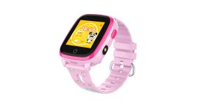 Ceas Inteligent cu GPS pentru copii WONLEX KT10 4G Roz, apelare video, rezistent la apa, localizare WiFI si monitorizare spion [2]