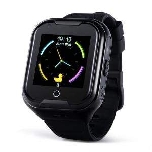 Ceas Inteligent cu GPS pentru copii WONLEX KT11 4G Negru, apelare video, rezistent la apa, localizare WiFI si monitorizare spion [0]