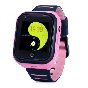 Ceas Inteligent cu GPS pentru copii WONLEX KT11 4G Roz, apelare video, rezistent la apa, localizare WiFI si monitorizare spion [1]