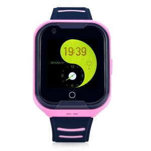 Ceas Inteligent cu GPS pentru copii WONLEX KT11 4G Roz, apelare video, rezistent la apa, localizare WiFI si monitorizare spion [0]