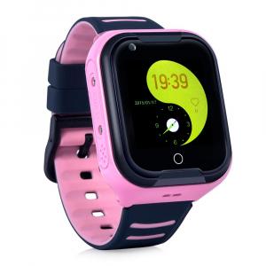 Ceas Inteligent cu GPS pentru copii WONLEX KT11 4G Roz, apelare video, rezistent la apa, localizare WiFI si monitorizare spion [2]