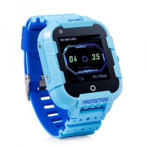 Ceas Inteligent cu GPS pentru copii WONLEX KT12 4G Albastru, apelare video, rezistent la apa, localizare WiFI si monitorizare spion [1]