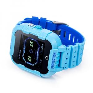 Ceas Inteligent cu GPS pentru copii WONLEX KT12 4G Albastru, apelare video, rezistent la apa, localizare WiFI si monitorizare spion [4]