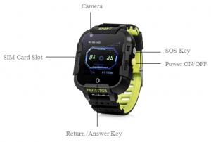 Ceas Inteligent cu GPS pentru copii WONLEX KT12 4G Negru, apelare video, rezistent la apa, localizare WiFI si monitorizare spion [4]