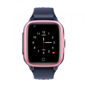 Ceas Inteligent pentru copii WONLEX KT15 4G Roz,  cu GPS, apelare video, rezistent la apa, localizare WiFI si monitorizare spion0