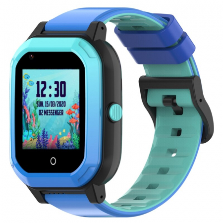 Ceas Inteligent cu GPS pentru copii WONLEX KT20 4G Albastru, apelare video, rezistent la apa, localizare WiFI si monitorizare spion [4]