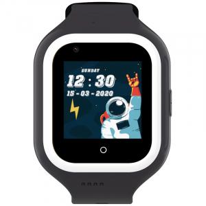 Ceas Inteligent pentru copii WONLEX KT21 4G Negru, cu GPS, apelare video, rezistent la apa, localizare WiFI si monitorizare spion0
