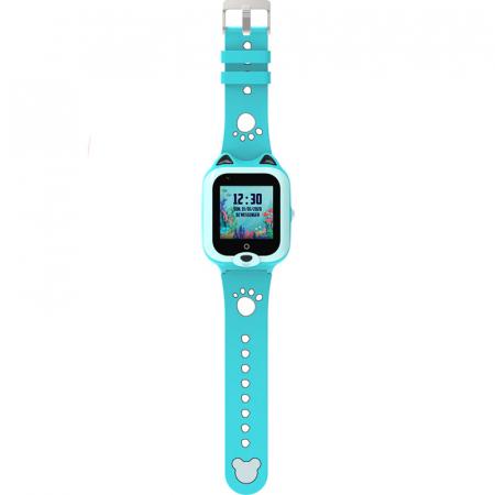 Ceas Inteligent cu GPS pentru copii WONLEX KT22 4G Albastru, apelare video, rezistent la apa, localizare WiFI si monitorizare spion [2]